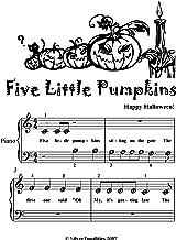 Best five little pumpkins piano sheet music Reviews