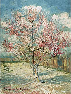 CHengQiSM Jigsaw Puzzle 1500 Pieces for Adults Souvenir De Mauve by Vincent Van Gogh Puzzles Peach Blossom 31.5 X 23.5 Inches