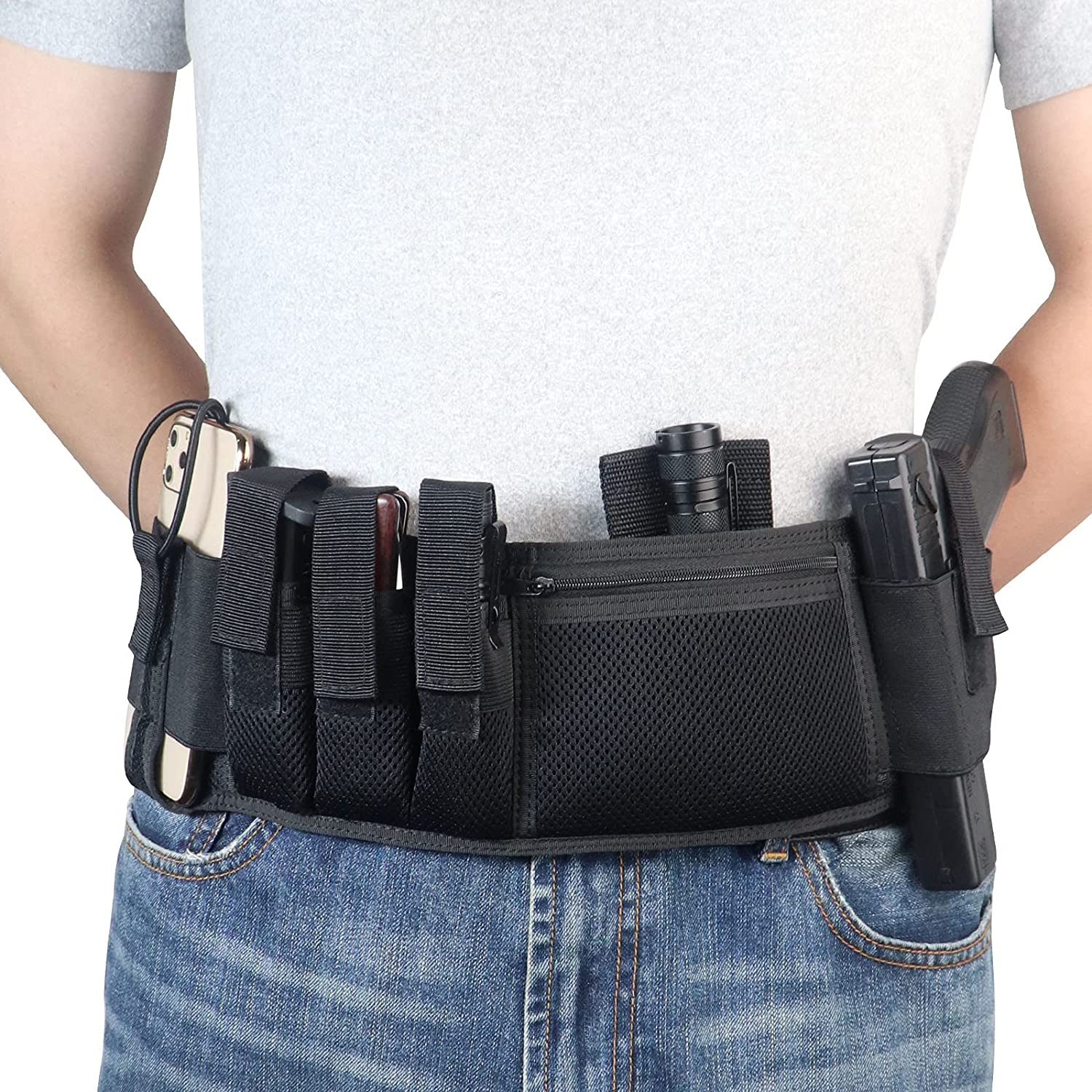 Kosibate Belly Band Gun Holster Concealed Compatible Carry for Oklahoma City Mall Gifts