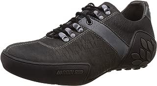 Woodland Men's Nubuck Print Leather Sneakers