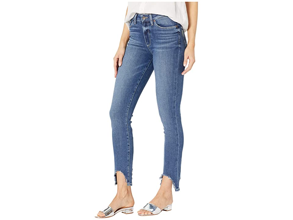 Paige Hoxton Ankle Peg w/ Rounded Fray Hem in Hannie (Hannie) Women's Jeans, Blue