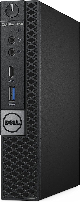 Dell OptiPlex 7050 Micro Form Factor Desktop Computer, Intel Core i5-7500T, 8GB DDR4, 128GB Solid State Drive, Windows 10 Pro (XXYMX)