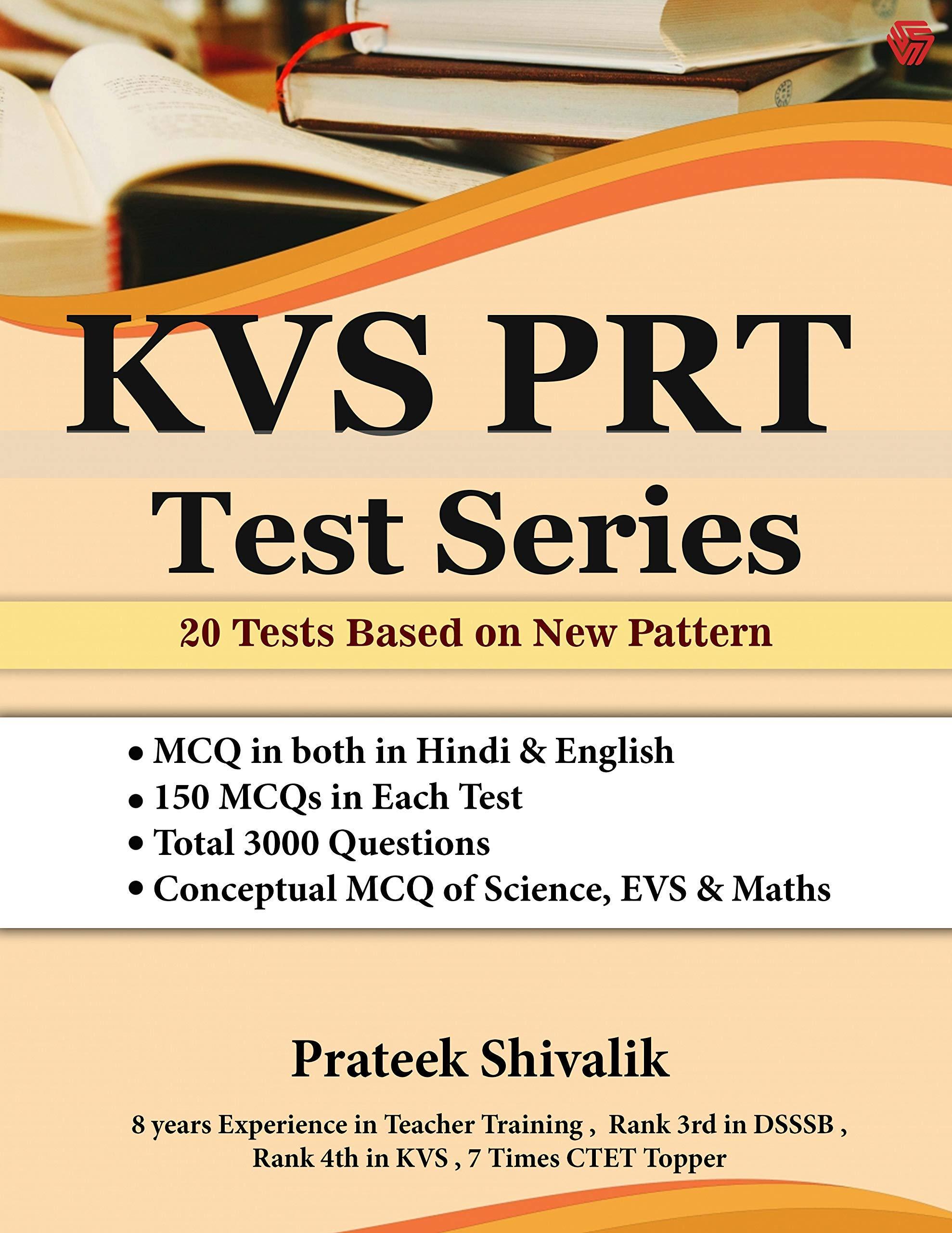 KVS PRT Test Series 20 Tests Based on New Pattern