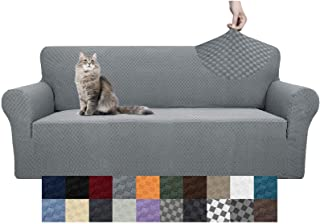 YEMYHOM Couch Cover Latest Jacquard Design High Stretch Sofa Covers for 3 Cushion Couch, Pet Dog Cat Proof Slipcover Non S...