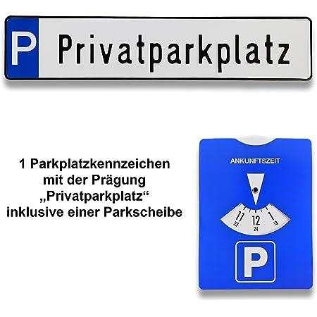 Ta Tradearea Hochwertige Geprägte Parkplatz Kennzeichen Schilder Inklusive Einer Parkscheibe In Der Göße 520x110 Mm Privatparkplatz Auto