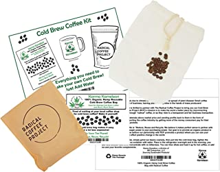 "Karma Kameleon 100% Organic Hemp Cold Brew Coffee Kit Hemp bag Reusable for Concentrate Cold Brew Coffee 7"" x 9"""