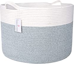 """XXL Cotton Rope Blanket Basket 20"""" x 20"""" x 13.3"""" 