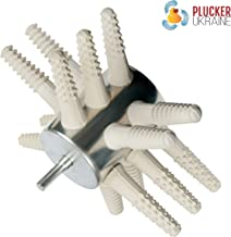 Chicken Plucker Drill Attachments - Poultry Feather Remover 15 Fingers (Broiler Duck) with Best Chicken Plucker Fingers (White)