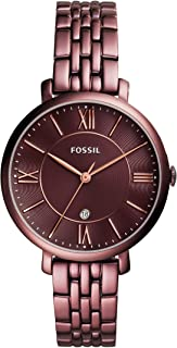 Fossil Women's Jacqueline Quartz Stainless Steel Dress Watch Color: Purple