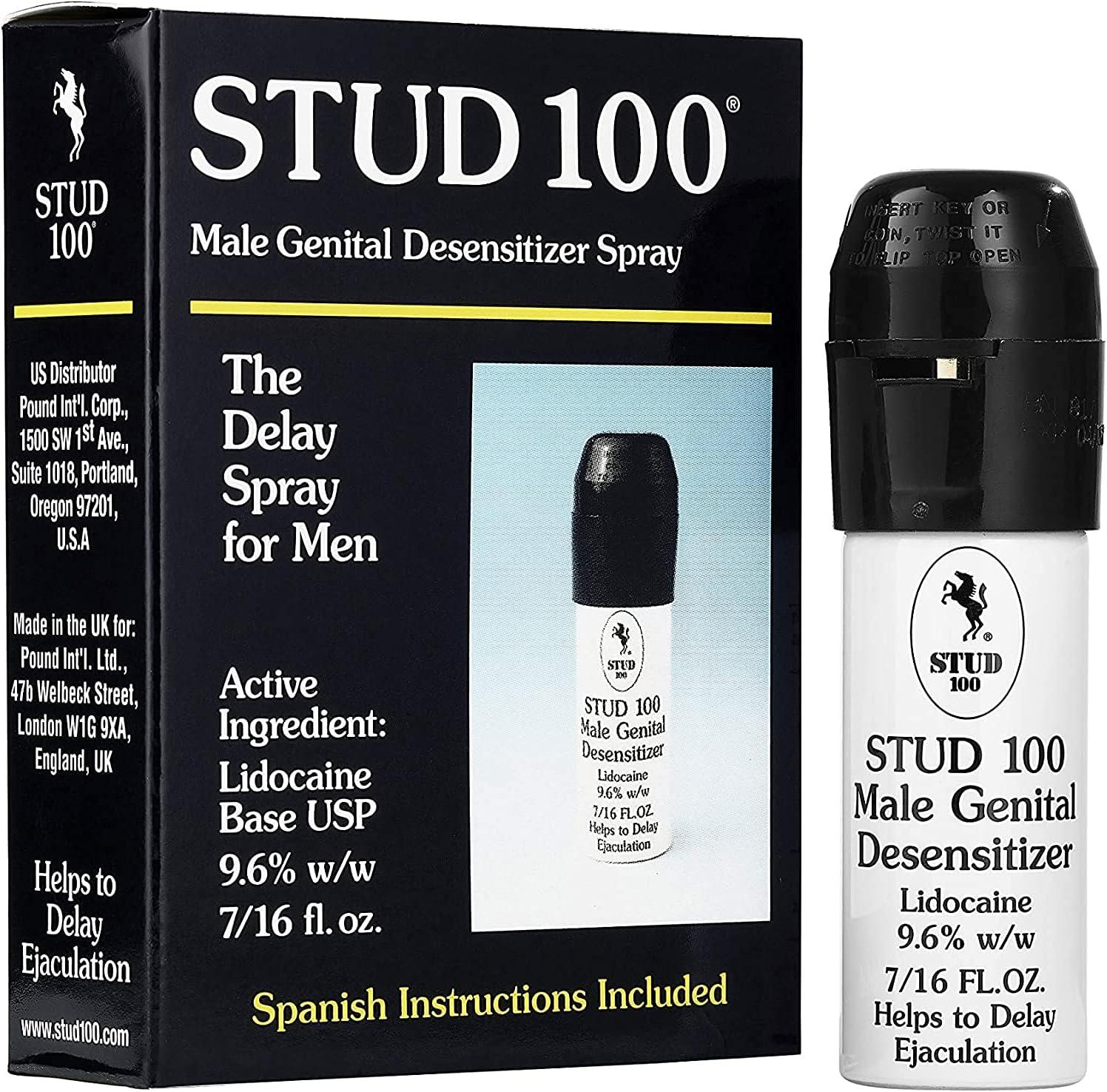 Pack of Max 46% OFF 4 Stud 100 Male Genital Fl. El Paso Mall Desensitizer 7 16- Spray