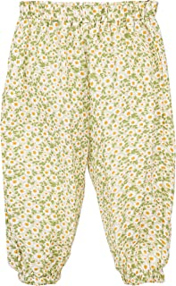 Sponsored Ad - ContiKids Little Girls Floral Banding Pants Toddler Girl Flower Harem Baggy Pant Trouser