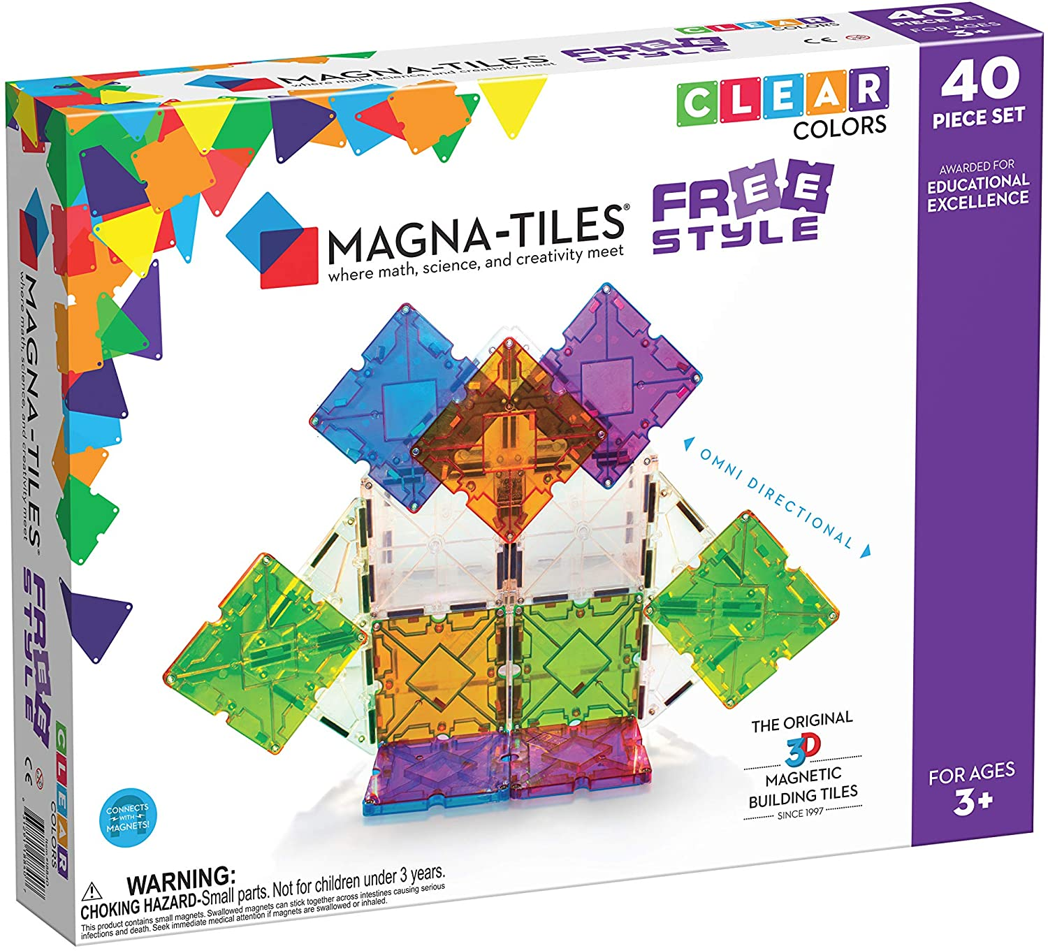 Magna-Tiles Freestyle Set NEW mart before selling ☆ The Original Tiles Magnetic Building
