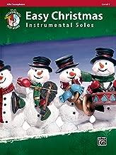 Easy Christmas Instrumental Solos, Level 1: Alto Sax, Book & CD (Easy Instrumental Solos Series)