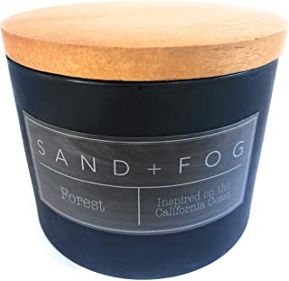 Sand And Fog Forest Double Wick Candle with Lid 12 Oz