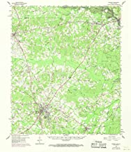 YellowMaps Center TX topo map, 1:62500 Scale, 15 X 15 Minute, Historical, 1958, Updated 1970, 21 x 18 in