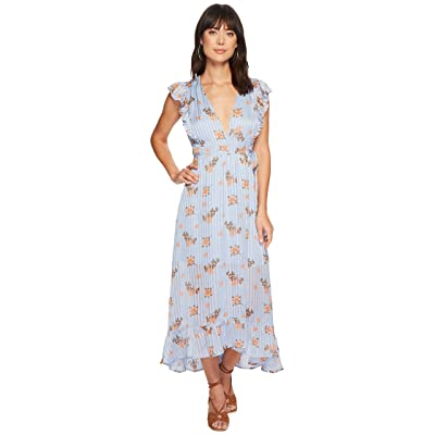 ASTR the Label Lila Dress (Blue/Peach Floral) Women