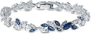 Swarovski Women's Louison Blue/White Sparkling Crystal Earrings, Necklace, Bracelet Jewelry Collection