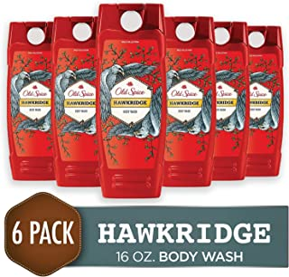 Old Spice Men's Body Wash, Hawkridge Scent, Wild Collection, 16 Fluid Ounce (Pack of 6)