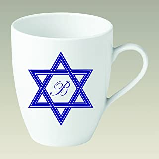 Personalized Mug with Star and Script Monogram (Set of 4)