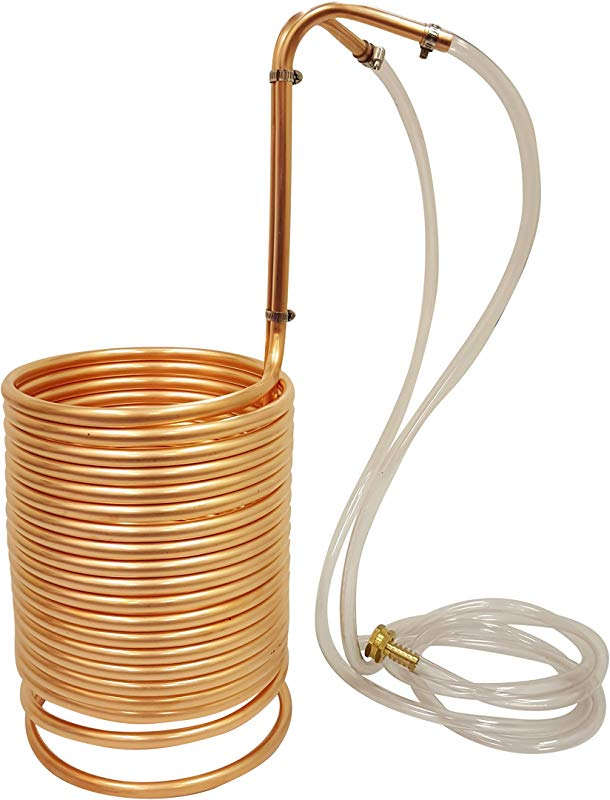 NY Brew Supply Wort Chiller W Vinyl Tubing Attachments 1 2 X 50 Copper