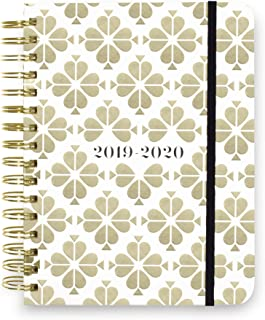 Kate Spade New York 17 Month Large Hardcover 2019-2020 Daily Planner | Weekly & Monthly Planner with Stickers, Pocket Folder, Tab Dividers | 9.25