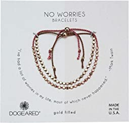 No Worries, Set of 2, Flat Bead Silk Bracelets