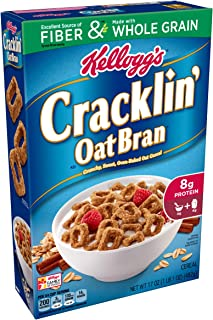(Discontinued Version) Discontinued by Manufacturer)Kellogg's Breakfast Cereal, Cracklin' Oat Bran, Excellent Source of Fiber, Made with Whole Grain, 17 oz Box(Pack of 10)