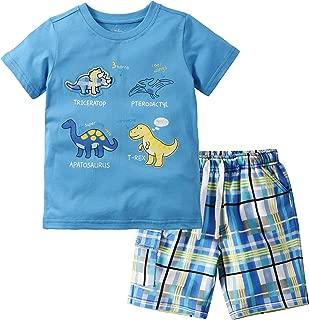 Boy Clothes Toddler Boys Summer Clothing Cotton Outfits Dinosaur T-Shirt & Shorts Set 2-7Yrs