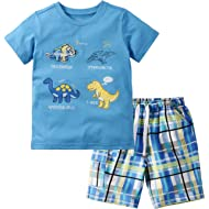 Boys Clothes Toddler Short Sets Cotton Outfits T-Shirt & Shorts 2-7 Years