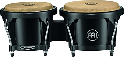 Meinl Bongos With ABS Plastic Shells - NOT MADE IN CHINA - Natural Skin Heads, 2-YEAR WARRANTY Free Ride Suspension System HB50BK