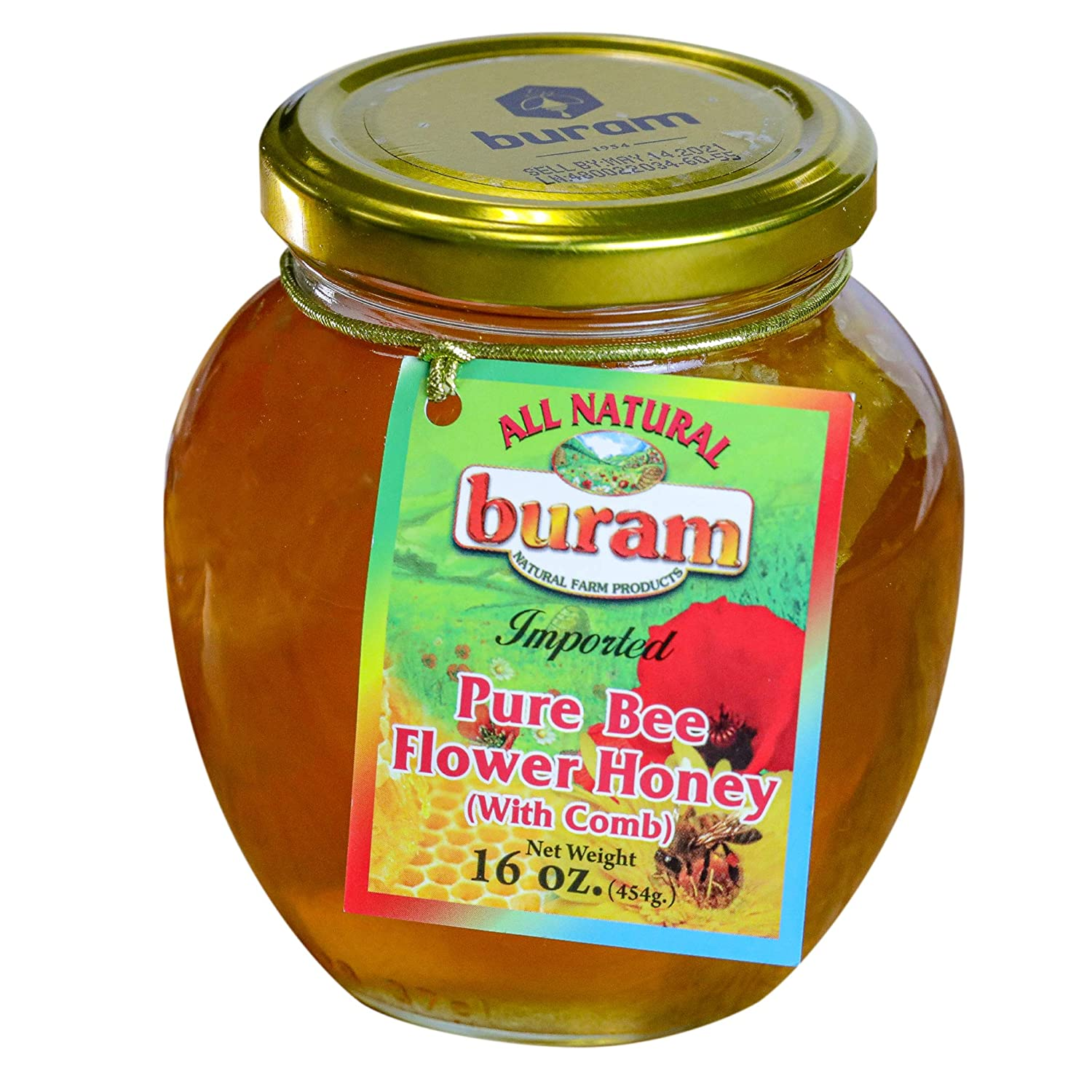 Washington Mall Buram Honey with Combs Flower Pure gift Comb 100% Unfiltered