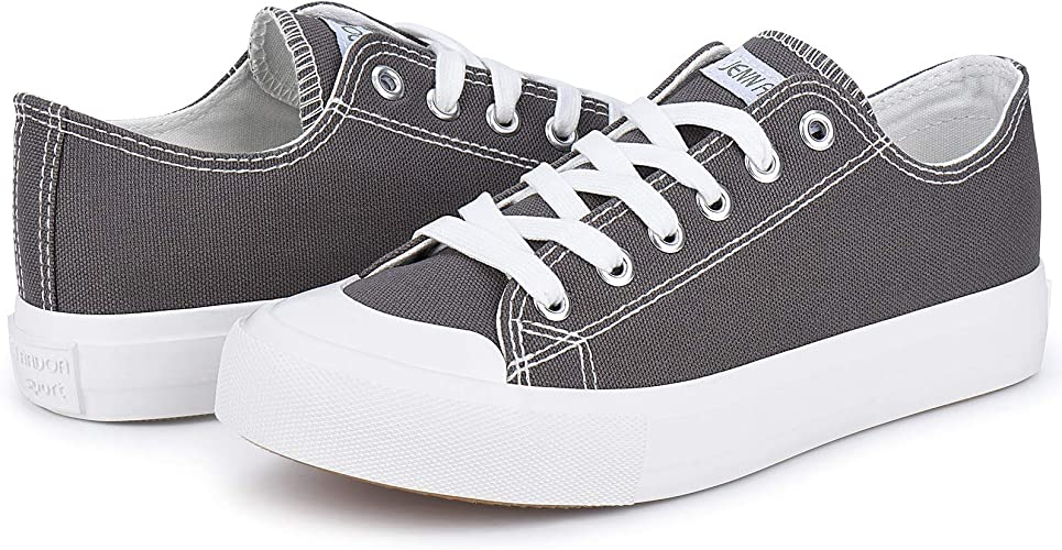 Women Canvas Sneaker Shoes Low Tops Casual Tennis Shoes Classic Walking Shoes Comfortable