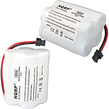 HQRP 2-Pack Battery Compatible with Uniden Bearcat BC220 BC220XLT UBC220XLT UBC180XLT BC120 BC120XLT UBC120XLT Scanner Plus HQRP Coaster