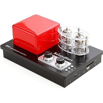 Soundfort Q9 ハイレゾ対応USB DAC内蔵 真空管ハイブリッドアンプ:繊細で柔らかな音を実現