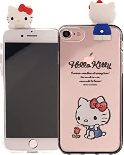 iPhone 8 Plus/iPhone 7 Plus Case Hello Kitty Cute Figure Doll Soft Jelly Cover for [ iPhone 8 Plus/iPhone 7 Plus ] Case - Figure Hello Kitty Sitting
