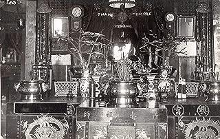 Penang Malaysia Snake Temple Interior Real Photo Antique Postcard J13432