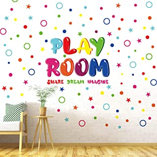 Outus Playroom Wall Decals Colorful Share Imagine Dream Wall Stickers Peel and Stick Inspirational Playroom Wall Decoratio...