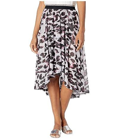 Tribal High-Low Faux Wrap Skirt (Porcelain) Women