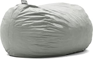 Big Joe Lenox Fuf Foam Filled Bean Bag, Extra Large, Fog