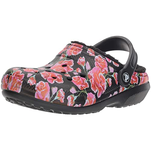 2d0aa33d8108 Crocs Women s Classic Fuzz Lined Floral Graphic II Clog Shoe