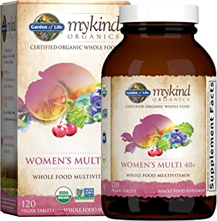 Garden of Life mykind Organics Vitamins for Women 40 Plus - 120 Tablets, Womens Multi 40 Plus,...
