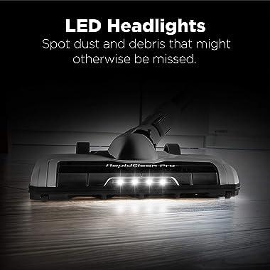 Eureka RapidClean Pro Lightweight Cordless Vacuum Cleaner, High Efficiency Powerful Digital Motor LED Headlights, Convenient