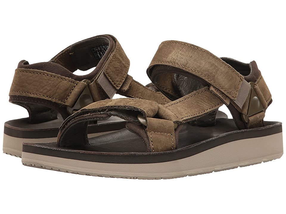 Teva Original Universal Premier Leather (Olive) Men