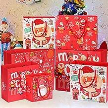 WAINEO 10PCS Bolsas desechables de dulces navide/ños con asas Bolsas de pl/ástico para galletas de dulces Bolsa de almacenamiento de alimentos Bolsas de envoltura de regalos Suministros de regalos