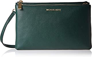 84390809b98f82 Michael Kors 32S7Gafc3L 305 Adele Double Zip Crossbody Bag For Women -  Leather, Green