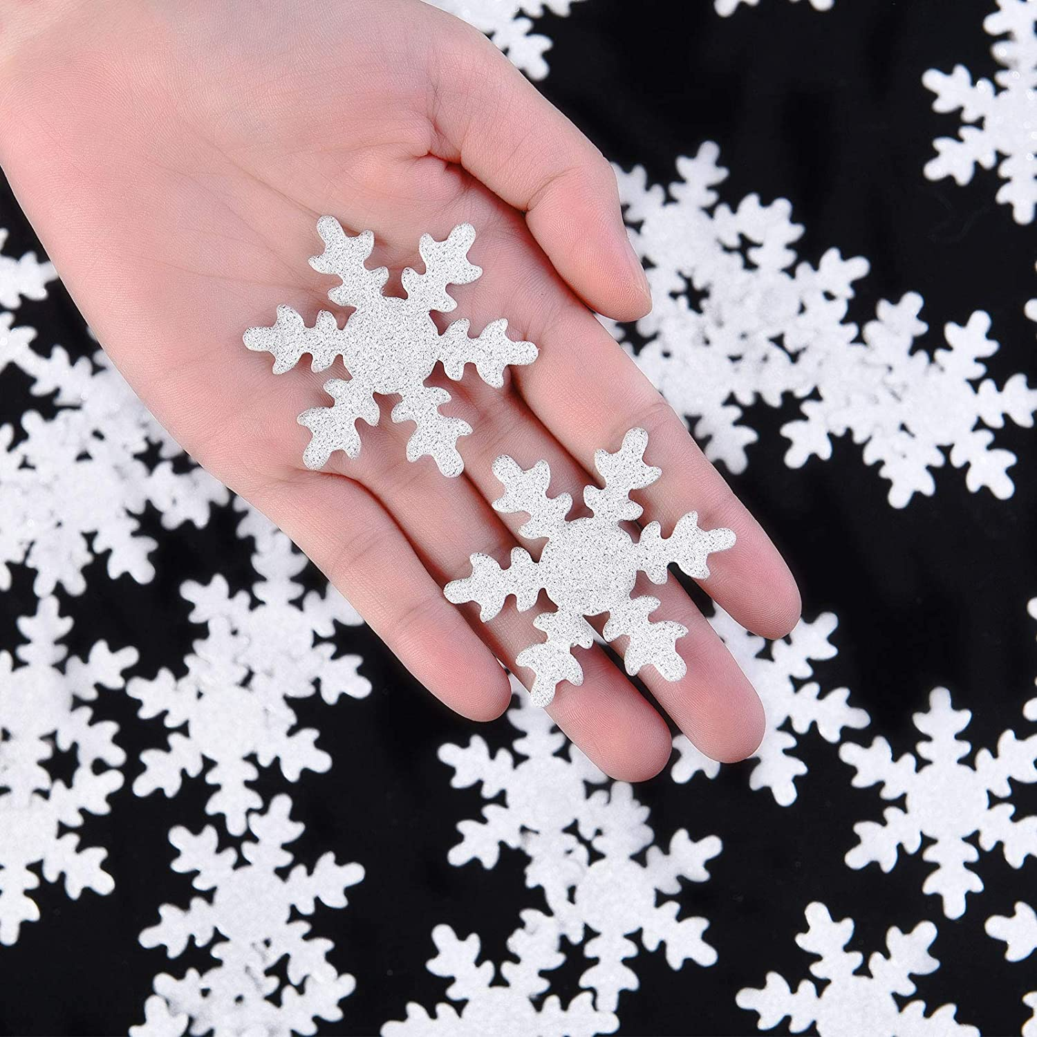 100 Pieces Snowflake Confetti Double-sided Sprinkles Christmas S
