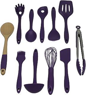 Chef Craft Premium Silicone Kitchen Tool and Utensil Set, 11 Piece, Purple