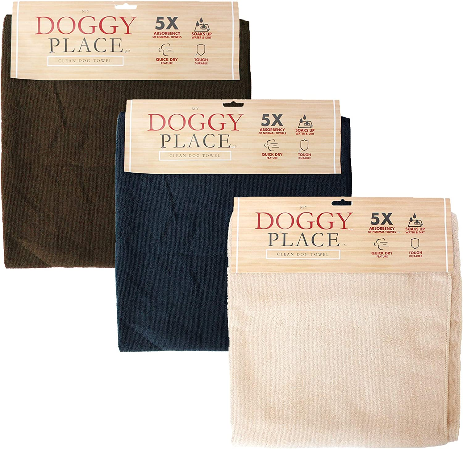 My Doggy Place Dog Cat Microfiber XL Drying Towel 45 x 28