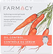 Farmacy Hydrating Coconut Gel Natural Face Mask - Oil Control (Carrot) 3 Pack