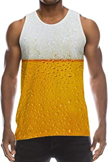 Mens 3D Graphic Printed Tank Top Cool Muscle Sleeveless Tees Gym Workout Shirt